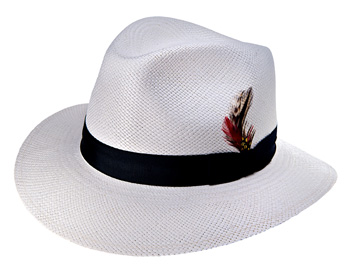 Custom Bleached White Fedora